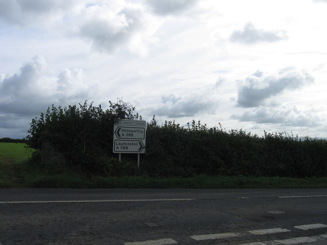 A388 at Nethercott Cross