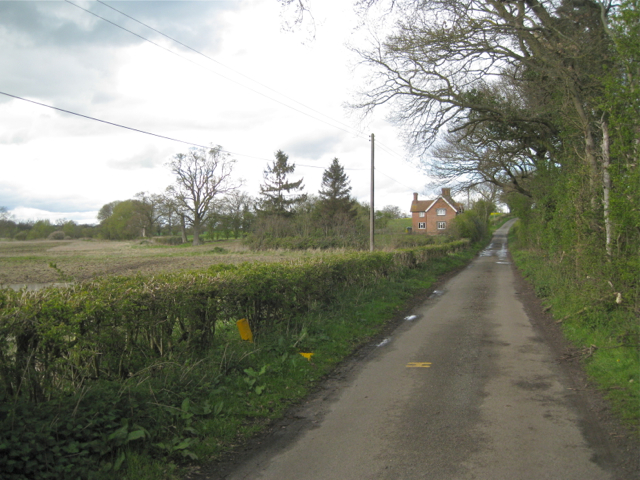 Minor road near Nursery Farm