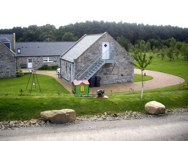 A redeveloped dwelling by A93