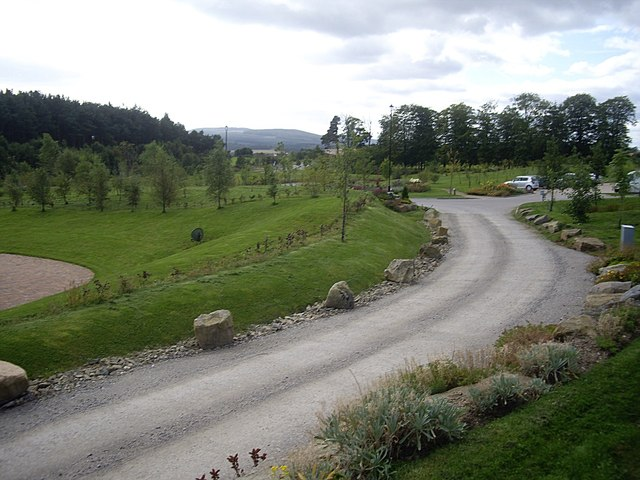 Landscaped grounds and carpark