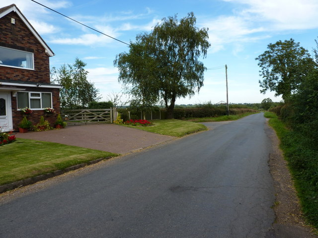 Crossroads near Coton End Farm