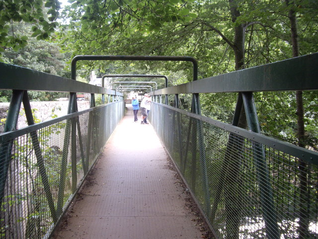 Metal footbridge over the River Feugh