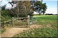 SP8229 : Bridleway to Salden House Farm by Philip Jeffrey