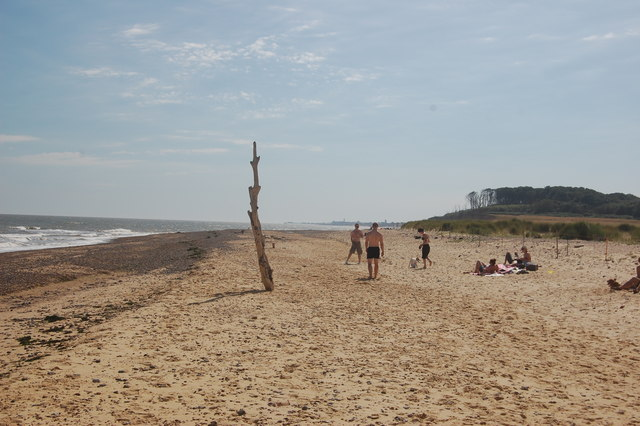 Suffolk Coast Path (foreshore route) - beach by Covehithe Broad