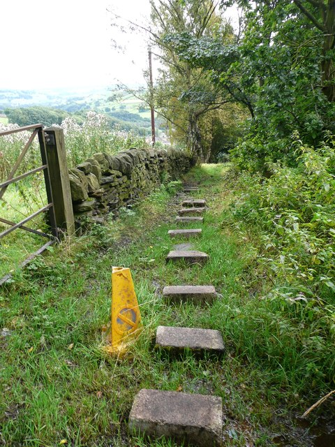 Stepping stones on Hebden Royd FP32