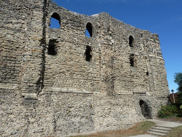 Canterbury Castle - southeastern façade