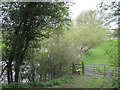 SP2186 : Field entrance and stile by the River Blythe by Robin Stott