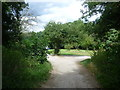 TQ3462 : Path on to Croham Hurst Golf Course by Ian Yarham
