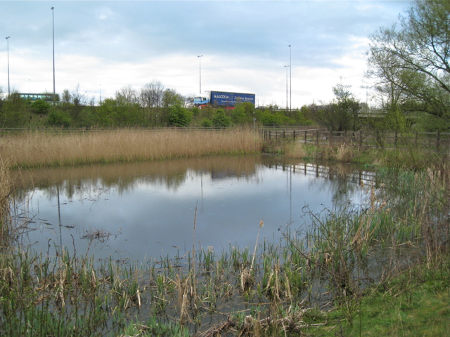 Surface water lagoon south of the M6 westbound