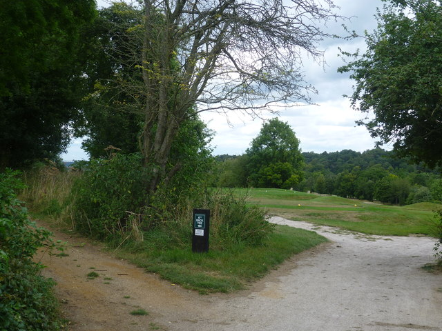 Paths on to Croham Hurst Golf Course