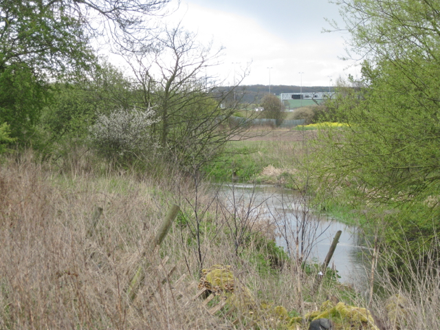 River Blythe below a former railway embankment