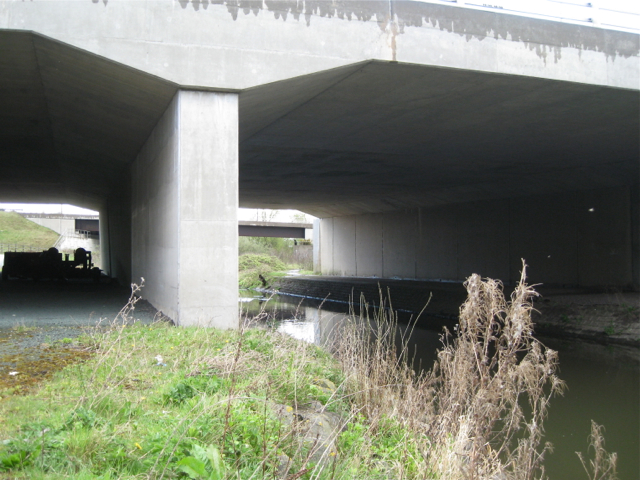 River Blythe below motorway bridges