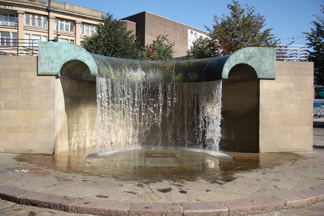Market Square Waterfall