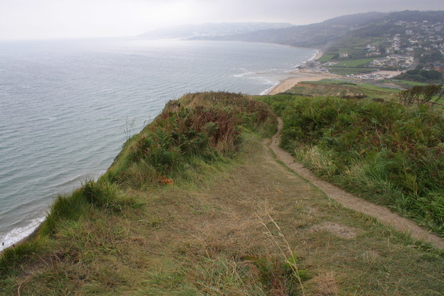 The coast path looking towards Charmouth
