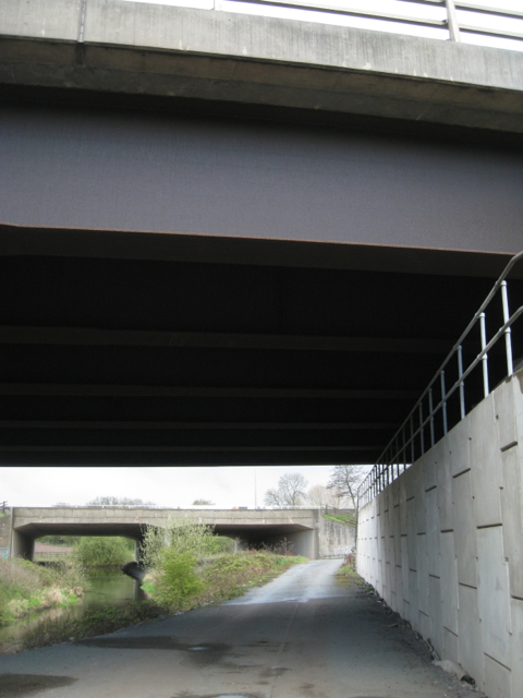 Motorway bridges across the River Blythe