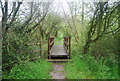 TQ0316 : Footbridge, Wey South Path by N Chadwick