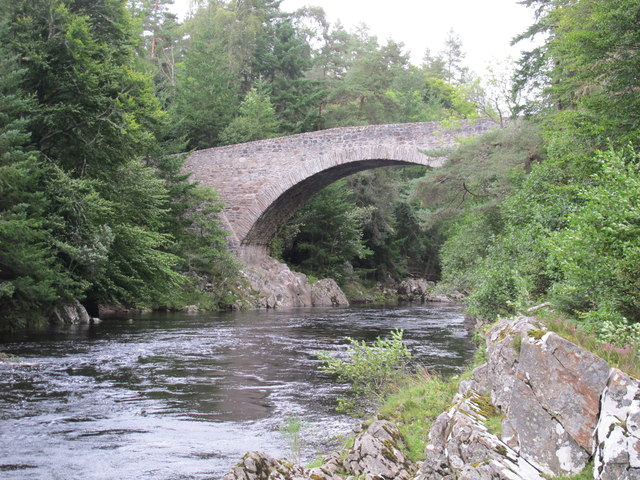 River Findhorn at Daltulich Bridge