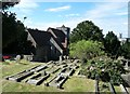 TR1557 : Canterbury - St Martin's - church and churchyard by Rob Farrow