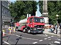 TQ3078 : Fire appliance near Lambeth Bridge by PAUL FARMER