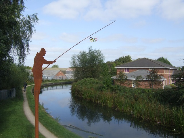 The Olympic fisherman on the Daw End Canal