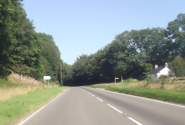 A470 at junction for Llanstephen