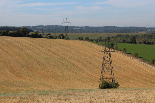 Pylons near Gorse Hill