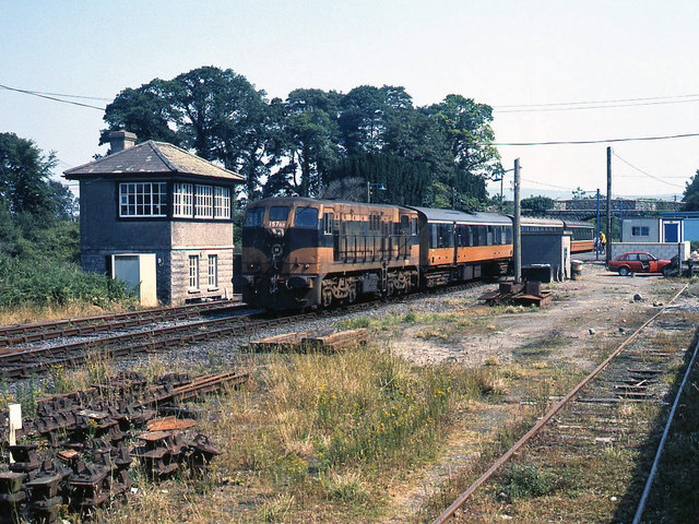 Passenger train at Birdhill