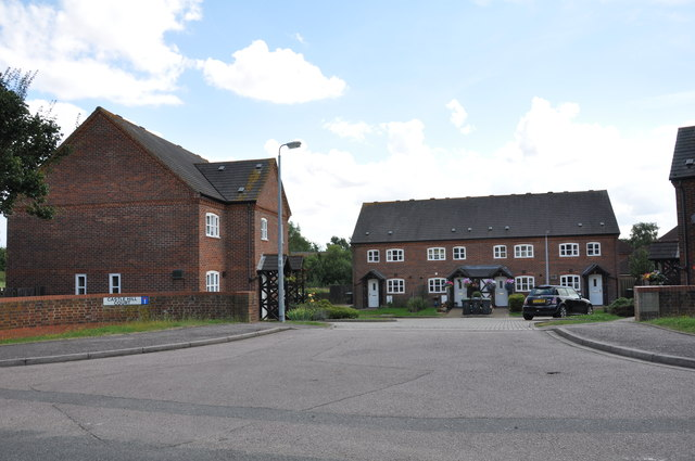 Castle Hill Court off Shefford Road. Clophill
