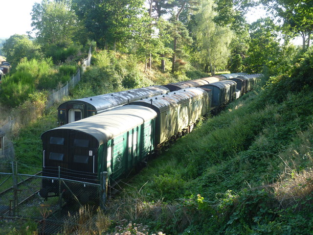 Carriage storage on a disused railway