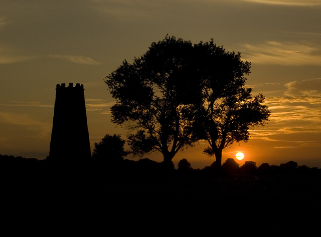 Black Mill, Beverley Westwood at sunset