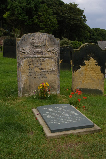 Grave of Anne Bronte, St Mary's Church, Scarborough