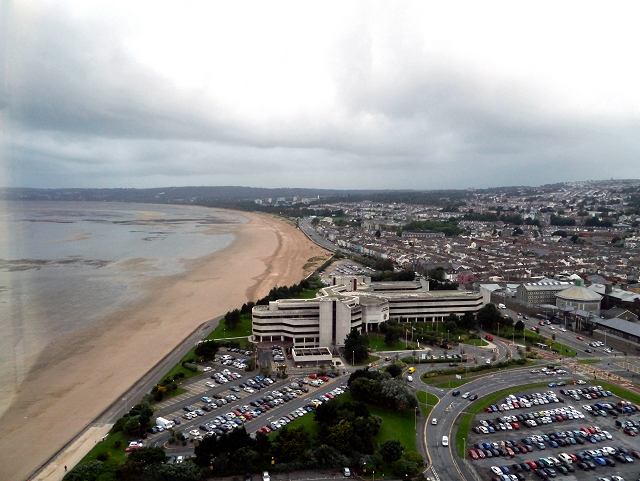 Swansea, Civic Centre and Sea Front