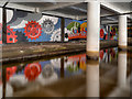 SJ8498 : Rochdale Canal, Underground Mural by David Dixon