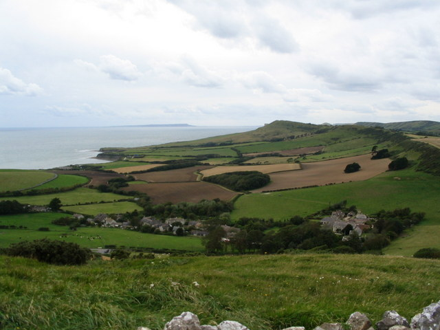 Kimmeridge village from Smedmore Hill