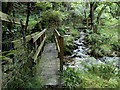 SK2279 : Footbridges, Highlow Brook by Andrew Hill