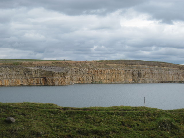 Flooded  section  of  Hardendale  Quarry