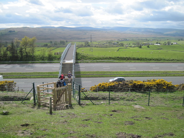 Footbridge  over  the  M6  SE  of  Shap