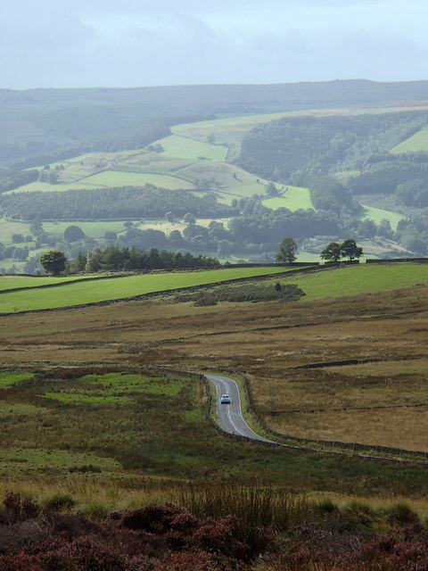 Road below Hathersage Moor
