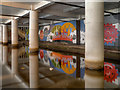 SJ8498 : Underground Mural, Rochdale Canal by David Dixon