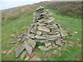 SO2432 : Small path cairn on the Darren Lwyd by Jeremy Bolwell