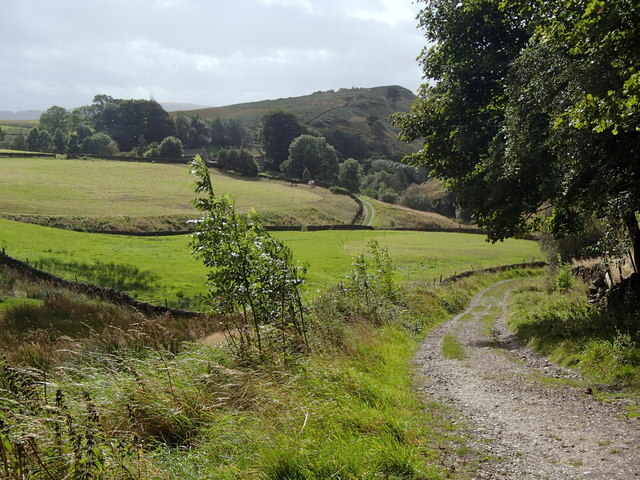 Track below the ruins of Callow Farm