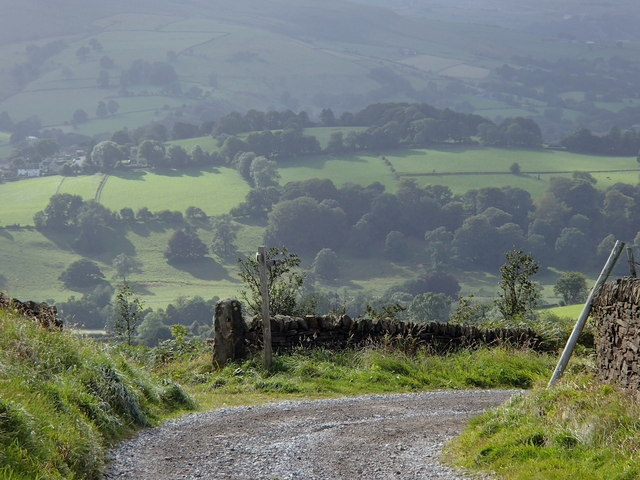 Track corner and countryside views
