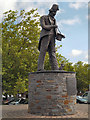 ST1586 : Tommy Cooper Statue, Caerphilly by David Dixon