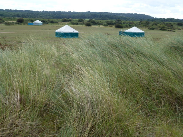 Camping site at South Beach, Heacham