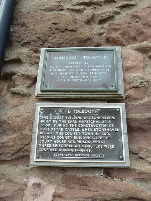 The Tolbooth, Stonehaven, Plaques