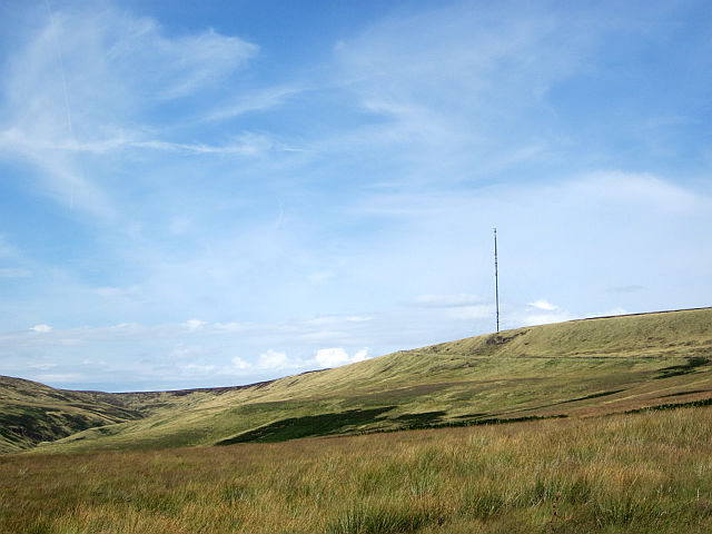 Holme Moss transmitting mast