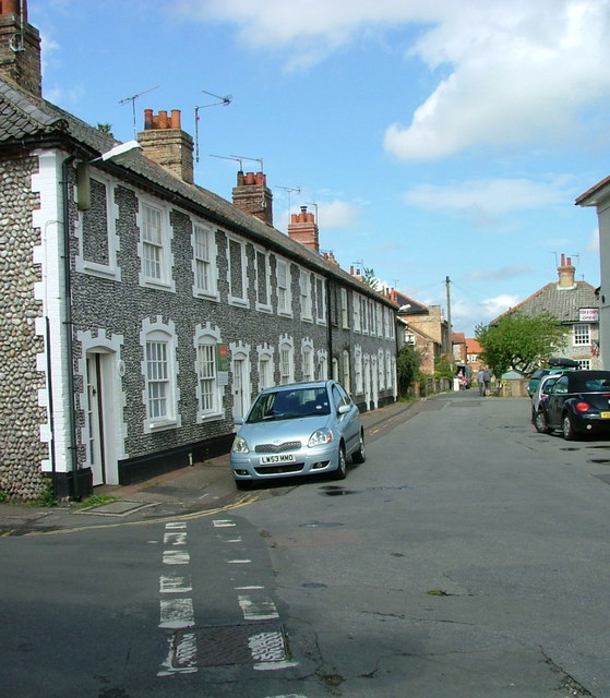 Houses in Albert Street, Holt