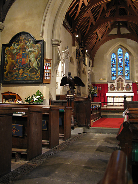 Interior view of the church of Saint Peter ad Vincula