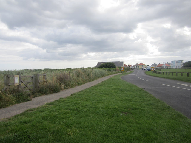 The road into Beadnell