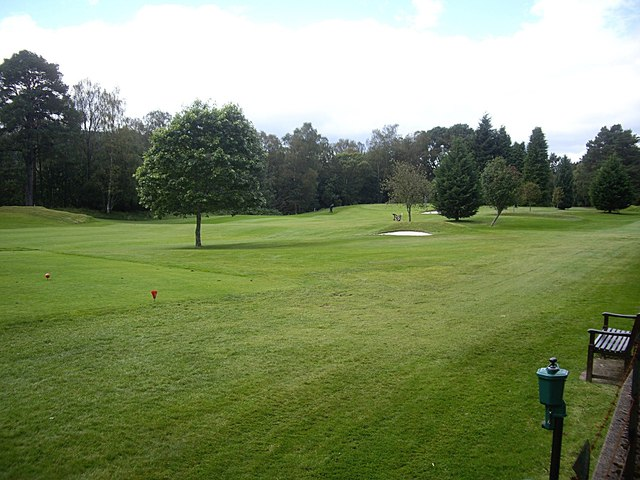 A tee on Banchory Golf Course